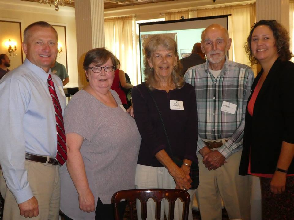 Congratulations to Library Trustee Paul Drozdziel and long-time volunteers Art & Laurel McManus; honored for their service by the Pioneer Library System. In photo L to R: Paul Drozdziel, Christine Ryan (Library President and PLS President), Laurel McManus, Art McManus, Rebecca Budinger-Mulhearn (Director)